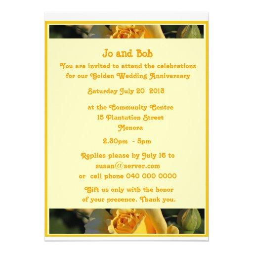 Golden Wedding Anniversary Invitation | Zazzle: zazzle.co.uk/golden_wedding_anniversary_invitation-161486693107485200