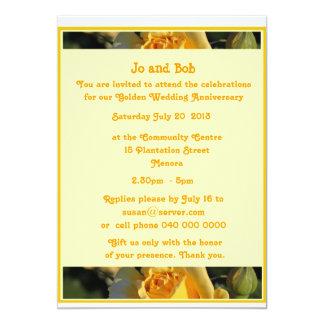 Golden Wedding  Anniversary Invitation