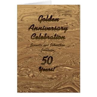 Golden Wedding Anniversary  Invitation 50 Years Greeting Card