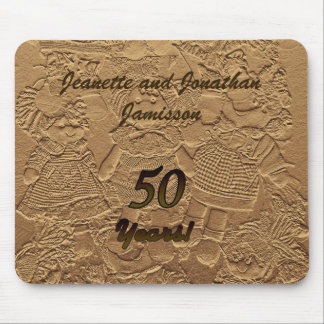 Golden Wedding Anniversary Mouse Pad