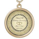 Golden Wedding Anniversary Necklace