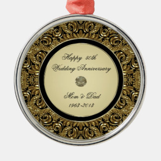 Golden Wedding Anniversary Ornament