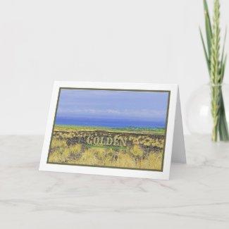GOLDEN WEDDING ANNIVERSARY/PHOTO BIG ISLAND COUNTR CARD