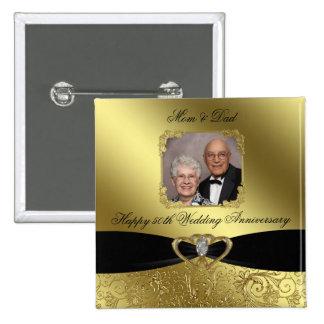Golden Wedding Anniversary Photo Button