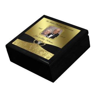 Golden Wedding Anniversary Photo Gift Box