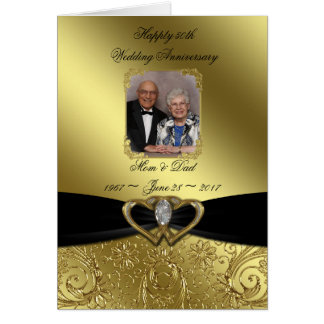 Golden Wedding Anniversary Photo Greeting Card