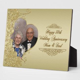 Golden Wedding Anniversary Photo Plaque
