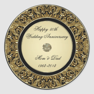 Golden Wedding Anniversary Sticker