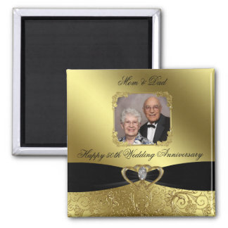 Golden Wedding Annivesary Photo Magnet