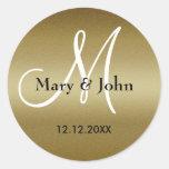 Golden Wedding Monogram Seals