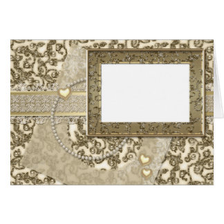 Golden Wedding or Anniversary Invitations or Notes Greeting Card