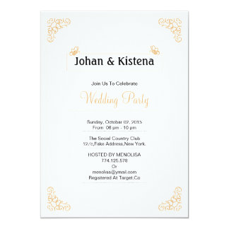 Golden Wedding party invitation