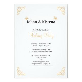 Golden Wedding party invitation
