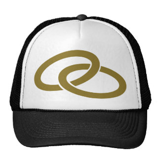 Golden Wedding rings Trucker Hat