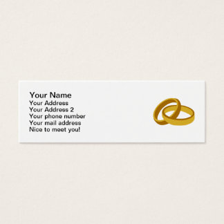 Golden Wedding rings Mini Business Card