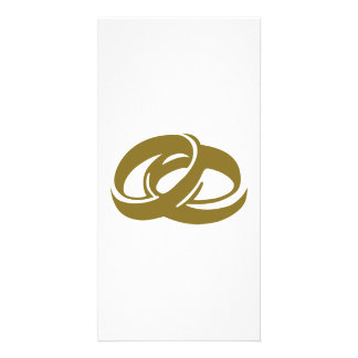 Golden Wedding Rings Photo Card