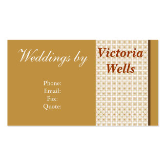 Golden Weddings and Events Double-Sided Standard Business Cards (Pack Of 100)