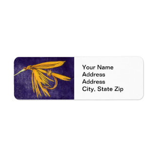 """Golden Wet"" Trout Fly Return Address Label"
