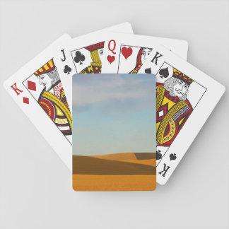 Golden Wheat Fields in Palouse Region Playing Cards