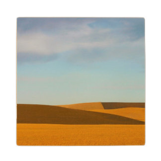 Golden Wheat Fields in Palouse Region Wood Coaster