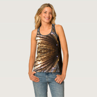 Golden Wheat Light Rays with a blending night star Tank Top