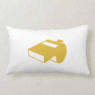 Golden Whistle Throw Pillows