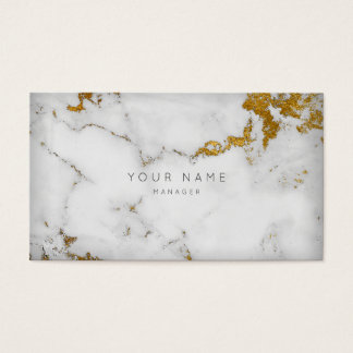 Golden White Gray Marble Vip Appointment Business Card