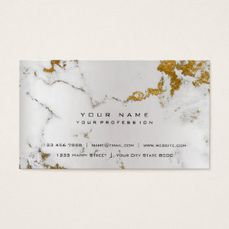 Golden White Gray Marble Vip Pearly Silver Business Card