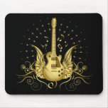 Golden Winged Guitar Mousepads