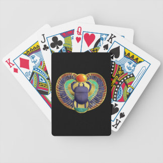 Golden Winged Scarab Bicycle Playing Cards