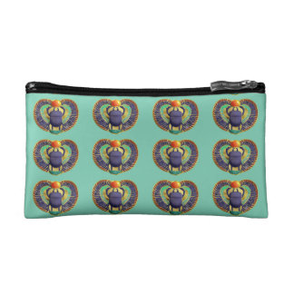 Golden Winged Scarab Cosmetic Bags