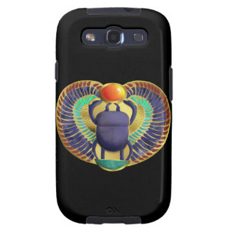 Golden Winged Scarab Galaxy S3 Cases