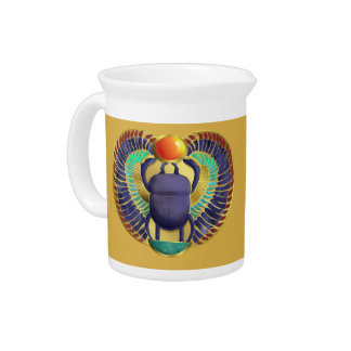 Golden Winged Scarab Pitcher