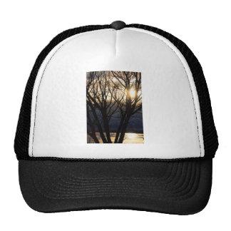Golden Winter Glow Trucker Hats