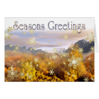 Golden Winter Greetings Card