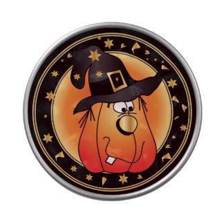 Golden Witch Halloween Pumpkin Design Jelly Belly Candy Tins