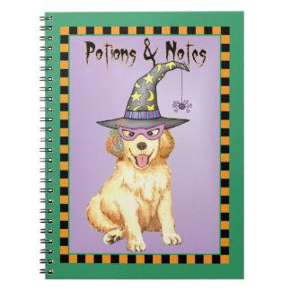 Golden Witch Spiral Notebook