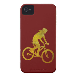Golden Woman Biker iPhone 4 Case