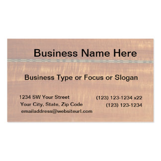 Golden wood grain with inlay background  #2 business card template