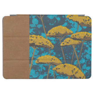Golden Yarrow Garden with Blue Background iPad Air Cover