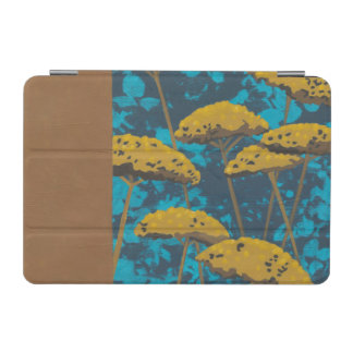 Golden Yarrow Garden with Blue Background iPad Mini Cover