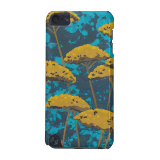 Golden Yarrow Garden with Blue Background iPod Touch (5th Generation) Cases