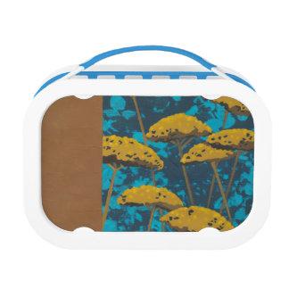 Golden Yarrow Garden with Blue Background Lunch Box