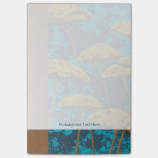 Golden Yarrow Garden with Blue Background Post-it Notes