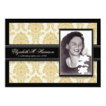 Golden Years Damask Birthday Party Invite (gold) 13 Cm X 18 Cm Invitation Card