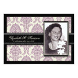 Golden Years Damask Birthday Party Invite (lilac) 13 Cm X 18 Cm Invitation Card