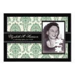 Golden Years Damask Birthday Party Invite (sage)