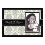 Golden Years Damask Birthday Party Invite (silver) 13 Cm X 18 Cm Invitation Card