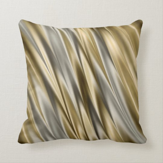 Golden yellow and silver grey satin style stripes