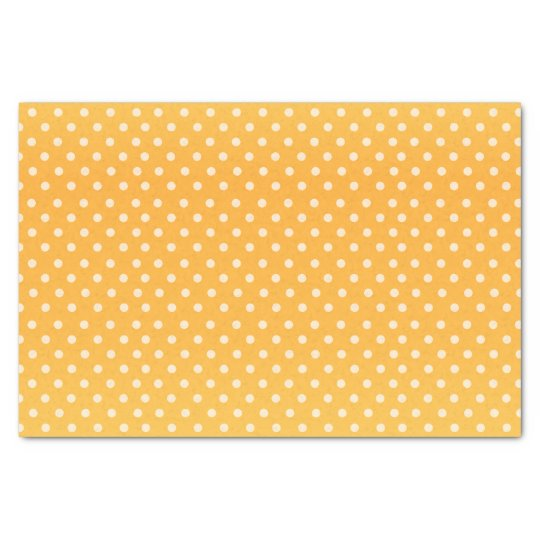 Golden Yellow and White Polka Dots Tissue Paper